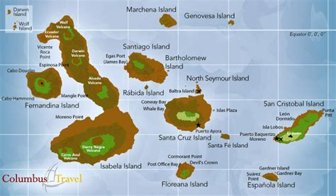 map of the islands travel map of the galapagos islands galapagos visitor