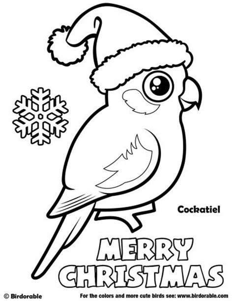 birdorable cockatiel christmas coloring page