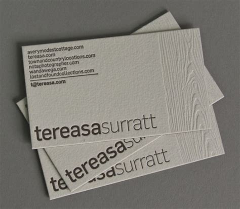 how to make letterpress business cards show your depth 50 letterpress business cards design