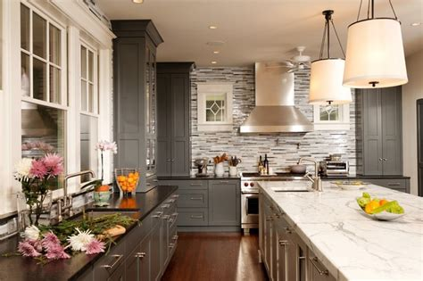 houzz painted kitchen cabinets grey kitchen ideas houzz quicua com