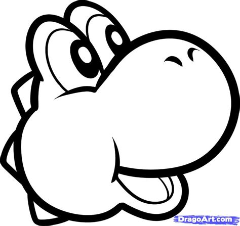 easy mario coloring pages how to draw yoshi easy step by step video game