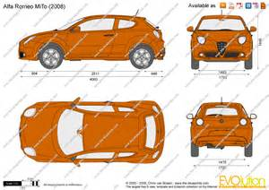 Alfa Romeo Mito Length The Blueprints Vector Drawing Alfa Romeo Mito