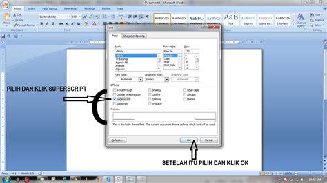 membuat pangkat html cara membuat pangkat pada microsoft word belajar komputer