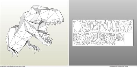 Dinosaur Papercraft Templates - papercraft pdo file template for animal tyrannosaurus