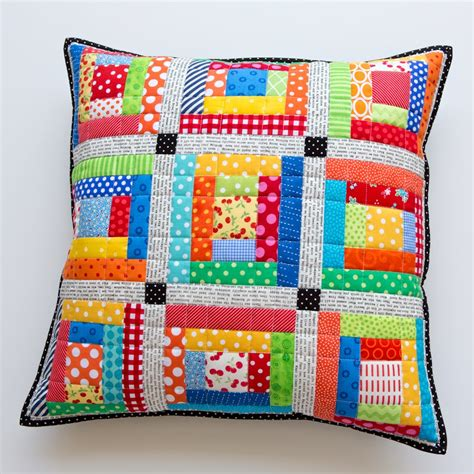 Patchwork Pillowcase - scrappy quilted patchwork pillows