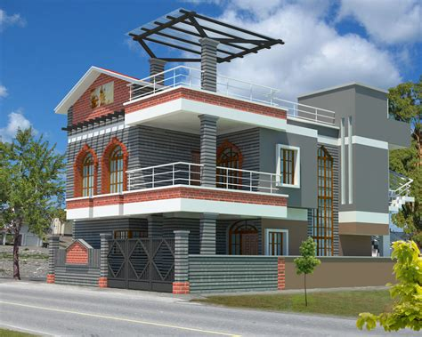 3d exterior home design online free 3d house plan with the implementation of 3d max modern