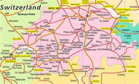 major cities in switzerland map switzerland map and switzerland satellite images