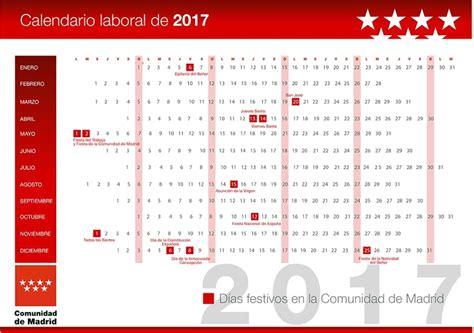 Calendario Laboral Portugal 2017 Calendario Laboral Festivos 2017 Comunidad De Madrid