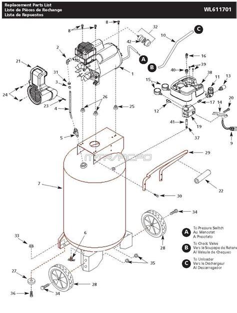 campbell hausfeld wl air compressor parts
