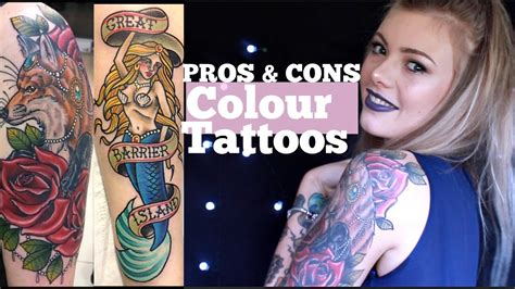 color tattoo vs black and grey price colour vs black grey tattoos pros and cons youtube