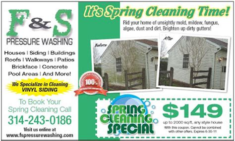 F And S Pressure Washing Coupons Power Washing Flyer Templates Free