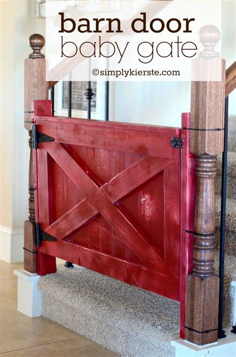 Barn Door Baby Gate Dog Baby Pets And Diy And Crafts Barn Door Gate