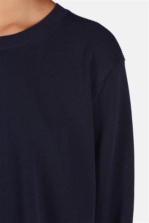 holla point holla cotton sweater dark indigo the line