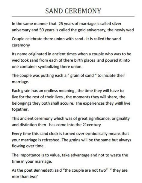 Wedding Ceremony Exles by 28 Best Wedding Ceremony Script Other Template
