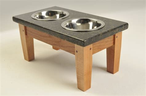 elevated bowls crafted small cherry and uba tuba granite elevated feeder now on closeout