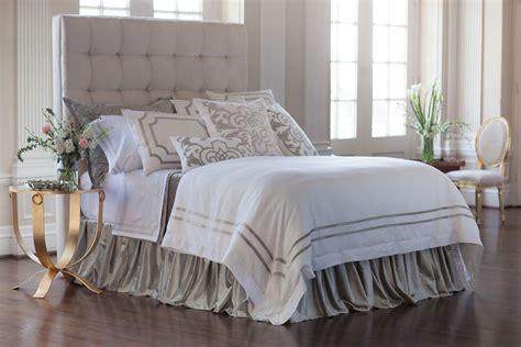 white linen bedding lili alessandra soho white linen with silver velvet