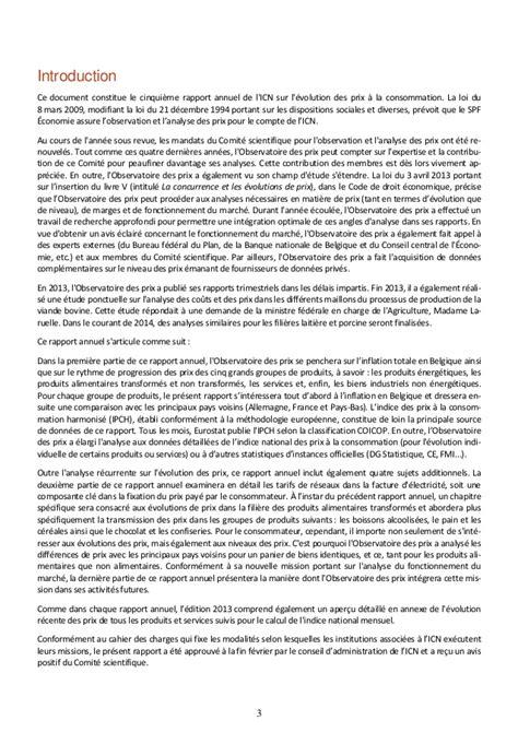 Rapport annuel 2013 de l'observatoire des prix