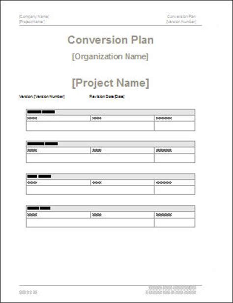 conversion plan template conversion plan template 19 page ms word sle