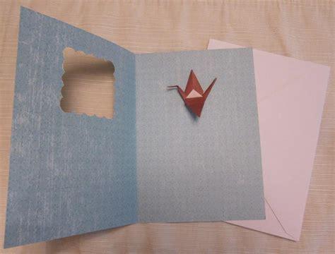 Origami Crane Card - origami crane card handmade origami designs