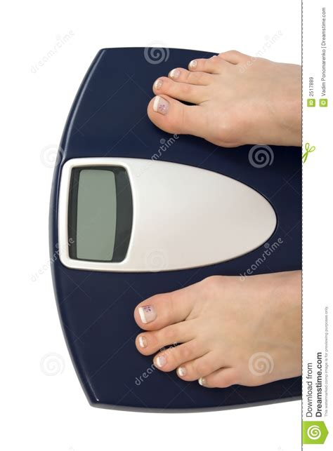 balance form bathroom scale female feet standing on scale royalty free stock images image 2517889
