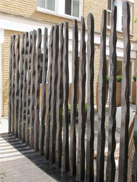 modern backyard fence modern garden fence divider enclose