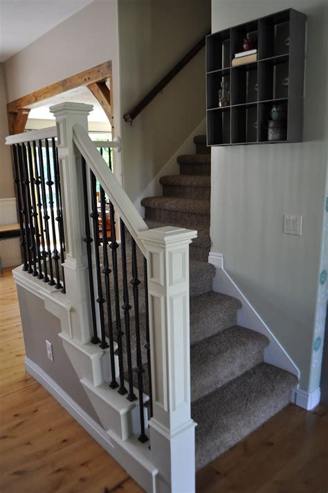 White Banister I Am Momma Hear Me Roar Stair Makeover With Annie Sloan