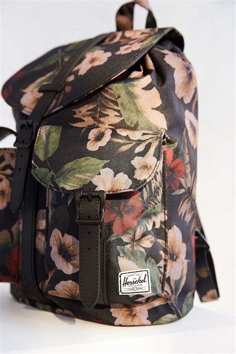 Original Herschel Dawson Xs Backpack Black Mini Floral herschel supply co dawson s backpack in pink lyst