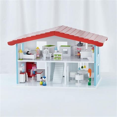small doll house furniture cottage dollhouse land of nod wood house top christmas gifts for kids small