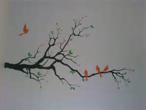 painting a mural on a wall with acrylic paint painting quot simple mural painting family of bird quot
