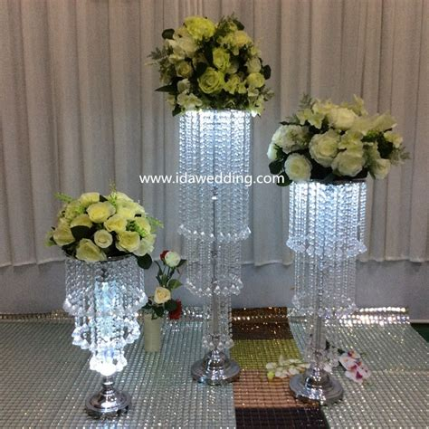 ida wedding decoration flower standwedding crystal
