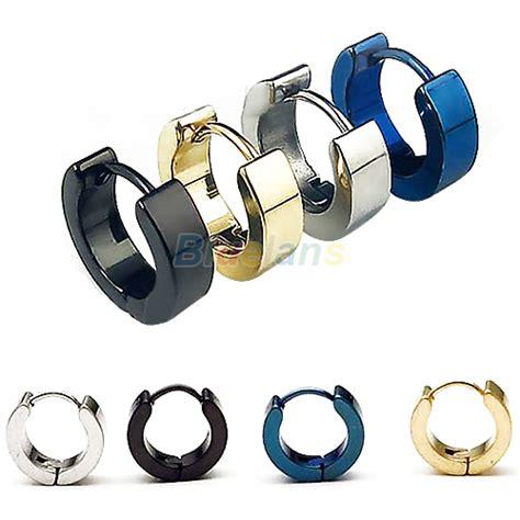 4 Colors Metal Stud 1 pair cool s stainless steel earring ear stud 4 colors available 00oj in stud