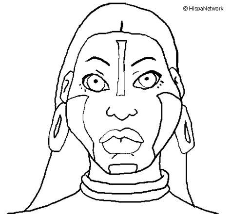 imagenes de caras mayas dibujo de mujer maya para colorear dibujos net