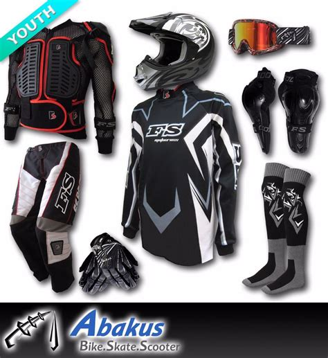 motocross bike gear youth motocross helmet jersey armour more junior kids