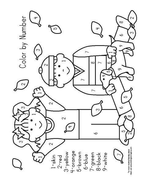 fall coloring pages color by number colour by number autumn best images of free printable