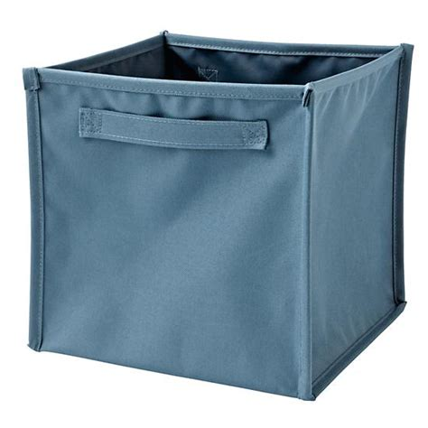 light blue canvas storage bins blue i think i canvas cube bin the land of nod