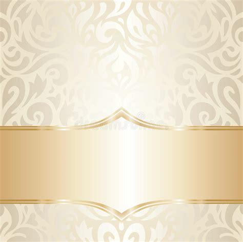 Wedding Logo Background by Golden Floral Wedding Vintage Wallpaper Design Stock