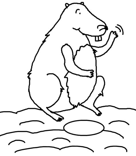 groundhog day coloring pages kids az coloring pages