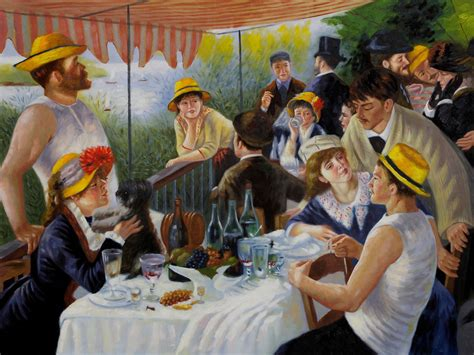 renoir boating party auguste renoir luncheon of the boating party www imgkid
