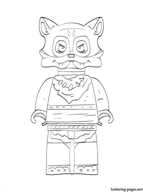 lego chima furty printable page to color coloring pages