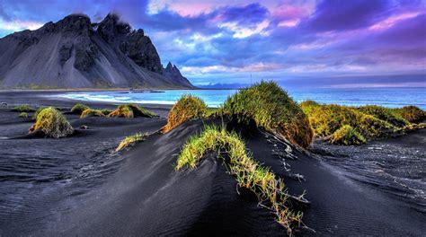 beaches with black sand black sand beach iceland