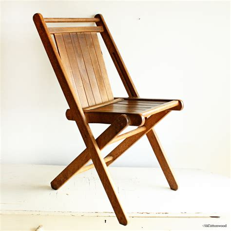vintage folding wooden chairs vintage wood folding chair wood slats all solid hardwood