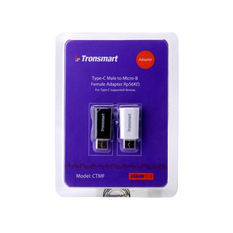 Tronsmart Usb 20 Type C To Micro Usb Adapter 2pcs Black tronsmart usb 2 0 type c to micro usb adapter 2pcs