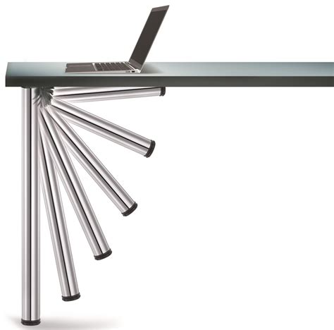 Folding Table Legs Hardware Chrome Push Button Set Of 4 Foldable Table Legs With Mounting Hardware 27 75 H 656 70 C1