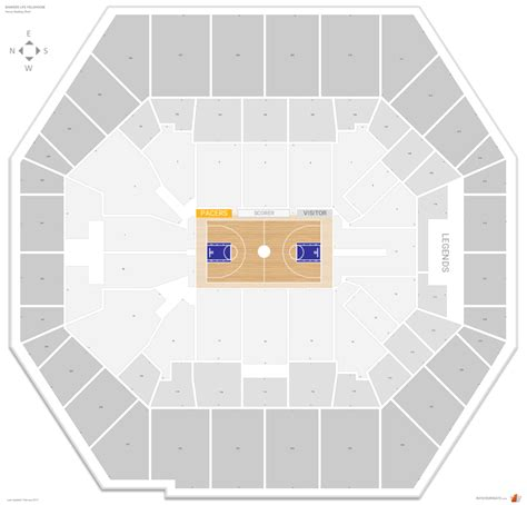 bankers fieldhouse seating chart with rows indiana pacers seating guide bankers fieldhouse