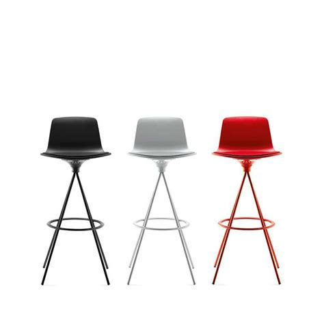 chaises de bar design tabouret de bar ou snack pivotant design structure metal