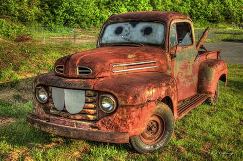 mater truck tom mater truck 1950 ford truck photograph by
