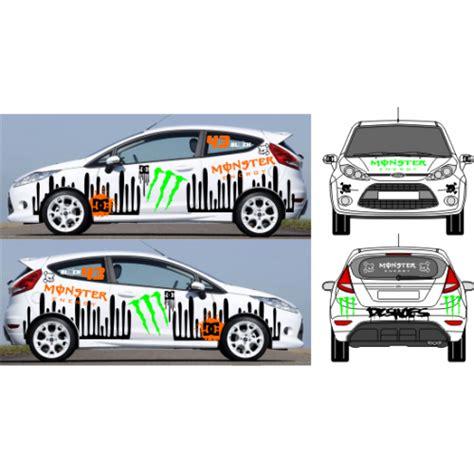 deco car emblem sticker et autocollant ken block kit deco vehicule clair