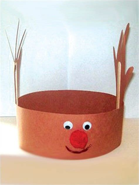 how to make christmas hats handprint reindeer hat crafts for preschool reindeer winter craft and