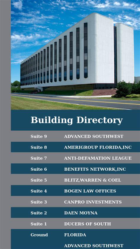 building directory template portrait templates