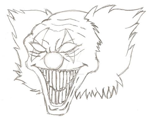 clown outline by nedia1234567 on deviantart